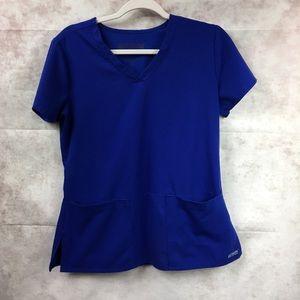 Grey's Anatomy Royal Blue Scrub Top